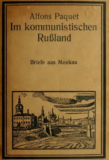 Im kommunistischen Russland - University of Toronto Libraries