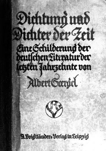 Dichtung und Dichter der Zeit, eine Schilderung der deutschen ...