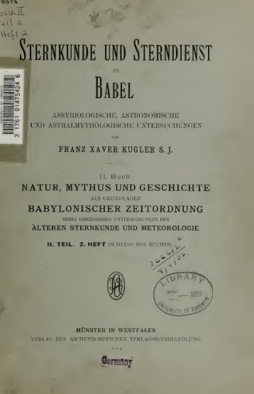 Sternkunde und Sterndienst in Babel assyriologische ...