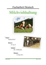 LINK: Fachbereichsarbeit | Milchviehhaltung (Johanna Kiesl)