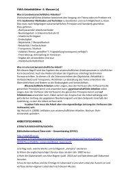 Schülerarbeitsblätter zu Struktur und Sprache der VWA