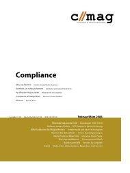 c // mag - Fachzeitschrift für Informationstechnologien, Themenheft: Compliance