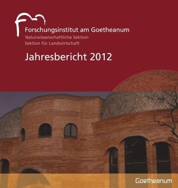 Jahresbericht 2012 - Naturwissenschaftliche Sektion - Goetheanum