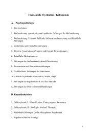 Themenliste Psychiatrie - Kolloquium A. Psychopathologie B ...
