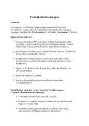 Persönlichkeitsstörungen - Semmelweis Egyetem