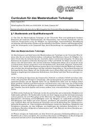 Curriculum für das Masterstudium Turkologie - Senat - Universität ...