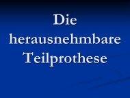 Die herausnehmbare Teilprothese - Semmelweis Egyetem