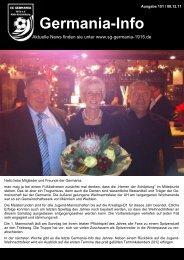 Germania Info 08.12.2011 - SG Germania 1915 e.V.