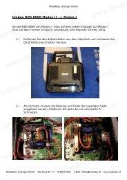 Umbau RDS 8000 Modus II -> Modus I - Lindinger.at - Modellbau ...