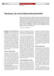 Teleskopen, die unverzichtbaren Baustellenhelfer - Bauverlag