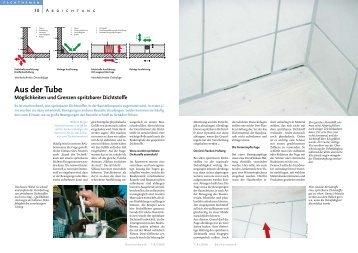 aus der tube möglichkeiten und Grenzen spritzbarer ... - Bauverlag