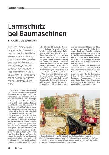 Lärmschutz bei Baumaschinen - Bauverlag