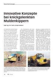 Innovative Konzepte bei knickgelenkten Muldenkippern - Bauverlag