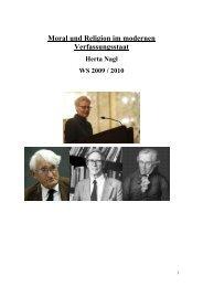 Moral und Religion im modernen Verfassungsstaat - Skriptenforum