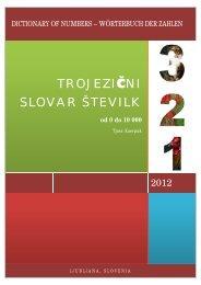 TROJEZIęNI SLOVAR ŠTEVILK - Slovarji.info