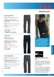 Körperschutz - Berufsbekleidung Walter