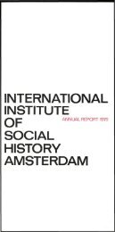 Download annual report 1979 - International Institute of Social History