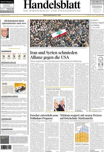 Iran und Syrien schmieden Allianz gegen die USA - Socrates