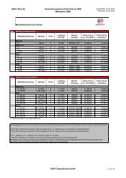 SEAT Altea XL Verkaufsprogramm Deutschland ... - Autohaus Bohnes