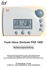 Funk-Haus-Zentrale FHZ 1000