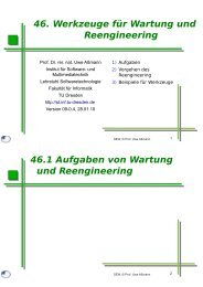 sew-46-wartung-reeng.. - Lehrstuhl Softwaretechnologie