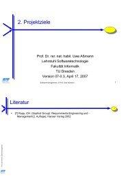 2. Pro ektziele Literatur - Www-st.inf.tu-dresden.de