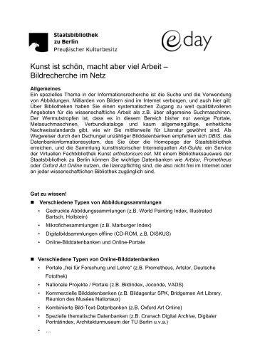 Handout - Staatsbibliothek zu Berlin