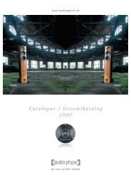 Catalogue / Gesamtkatalog 2007 - Audio Physic