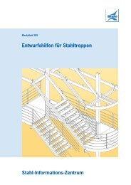Entwurfshilfen für Stahltreppen - Stahl-Informations-Zentrum