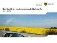 Präsentation zum Markt für nachwachsende Rohstoffe 2012