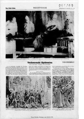 Epidemien - Neue Zürcher Zeitung
