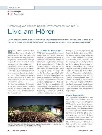 Live am Hörer - RPR1