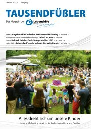 2013 Oktober / Lebenshilfe Freising / Tausendfüßler-Magazin
