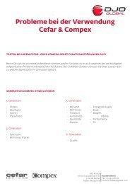 Probleme bei der Verwendung Cefar & Compex - DJO