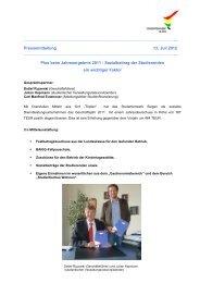 beim Jahresergebnis 2011 - Studentenwerk Siegen