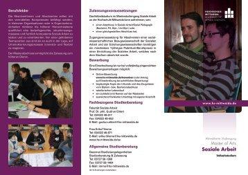Flyer zum Studiengang (PDF) - Studieren in Deutschland [studieren ...