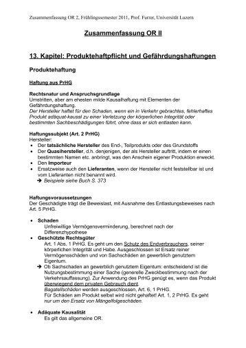 OR II Zusammenfassung (FS 2011)