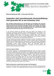 StudentInnenschaft der Universität Bern (SUB)