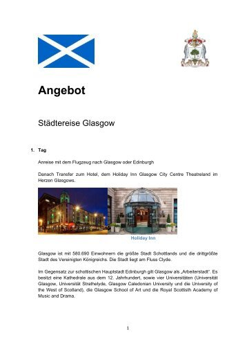 Glasgow Städtereise