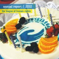 League of Human Rights | Annual Report | 2012