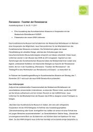 Renessenz – Facetten der Renaissance - Kunsthistorisches Museum