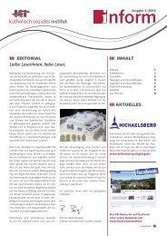 ksi-Inform 01/2013 - Tagungshäuser im Erzbistum Köln