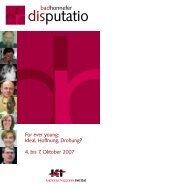 Disputatio 2007 - Tagungshäuser im Erzbistum Köln