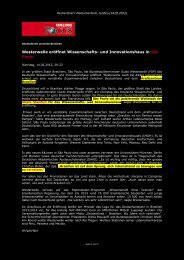 Westerwelle eröffnet Wissenschafts- und ... - Terra - Germania