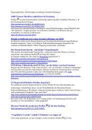 Flugzeugabstürze, Munitionlagervernichtung ... - Terra - Germania