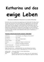 Katharina und das ewige Leben - Theaterverlag Arno Boas