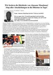 Alassane Mousbaou - Karawane für die Rechte der Flüchtlinge und ...