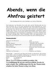Abends, wenn die Ahnfrau geistert - Theaterverlag Arno Boas