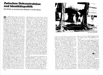 Zwischen Dekonstruktion und Identitätspolitik - Theorie als Praxis