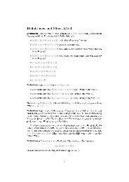 Definitionen und Sätze, 1.Teil